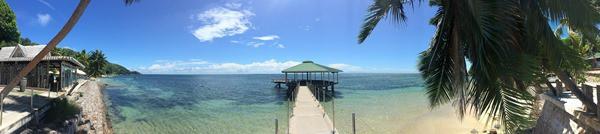 26_Panorama-vom-Fishermans-Wharf-Steg-am-Coco-de-Mer-Hotel-Strand-Anse-Cimetiere-Praslin-Seychellen