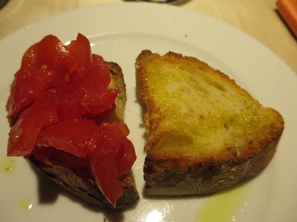 Bruschette beim Pizzakurs Ristorante That's Amore Rom Italien