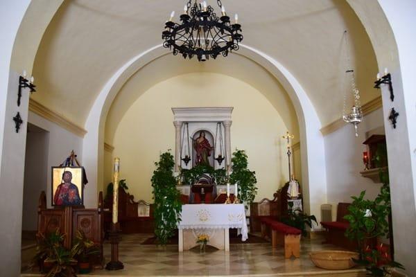 San Pantaleo Kirche Altar Palau Sardinien Italien