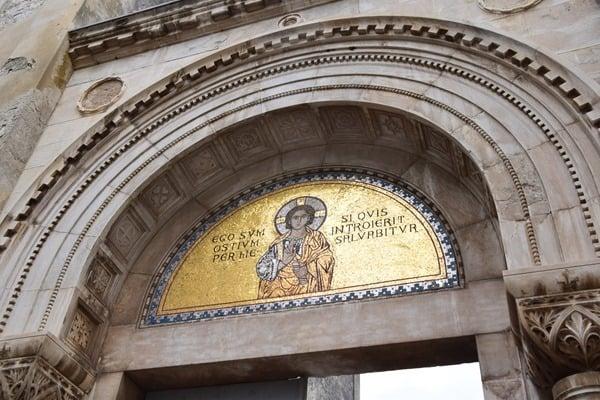Porec Kroatien Eingang Euphrasius Basilika Istrien