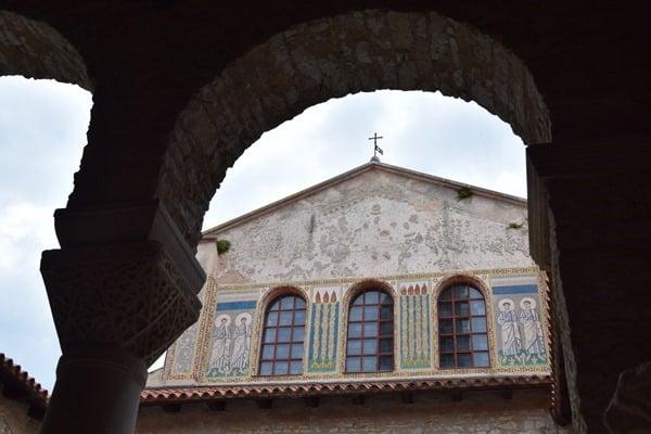 Porec Kroatien Ostschiff Euphrasius Basilika Istrien