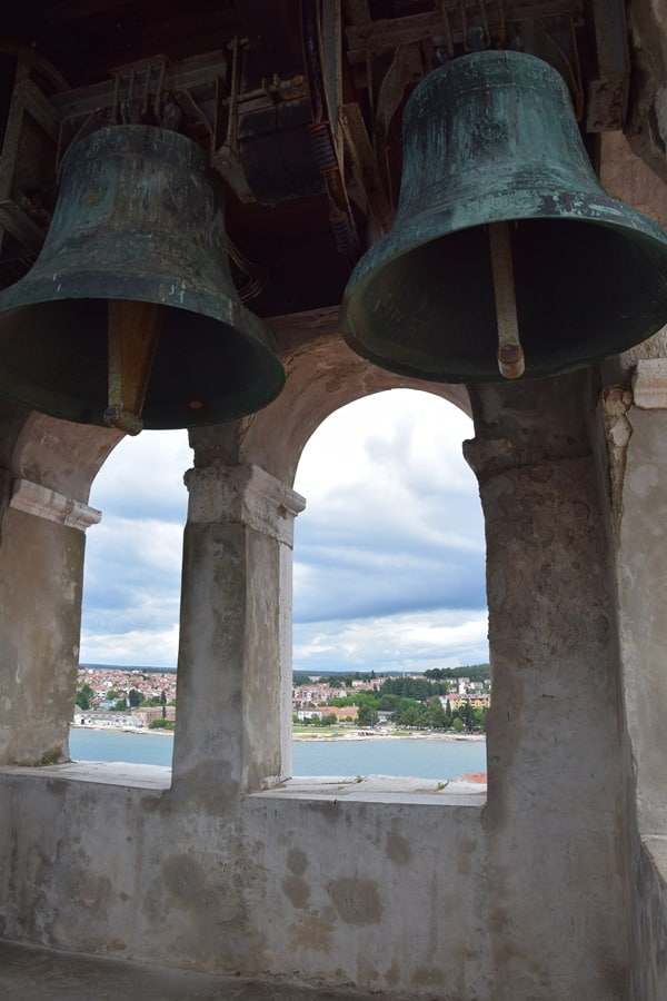Porec Kroatien im Glockenturm Euphrasius Basilika Istrien