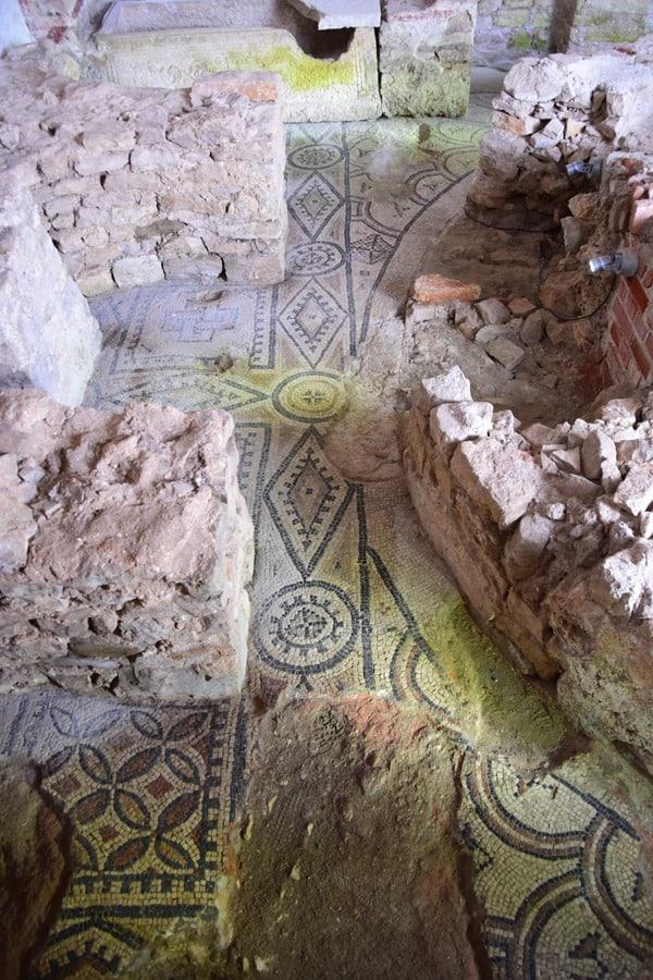 Porec Kroatien Boden Mosaik Euphrasius Basilika Istrien