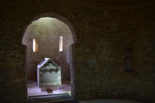 Porec Kroatien Sarkophag Euphrasius Basilika Istrien