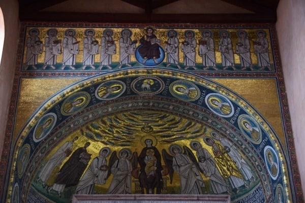 Porec Kroatien goldenes Mosaik Altar Euphrasius Basilika Istrien