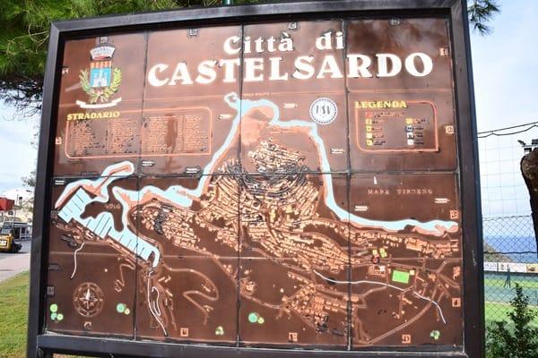 Karte Citta di Castelsardo Sardinien Italien