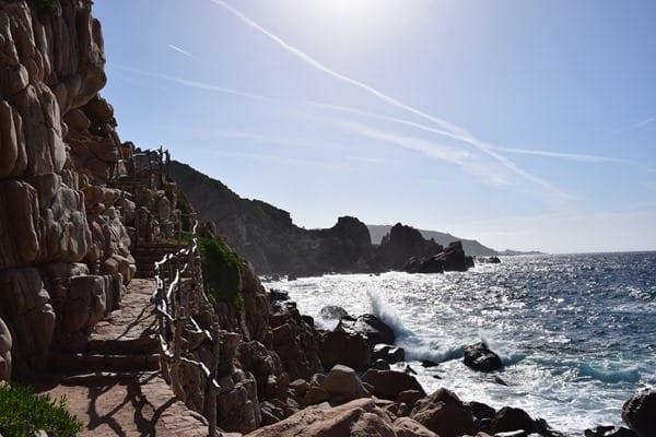 Unterwegs Wanderweg Strand Li Cossi Costa Paradiso Sardinien Italien