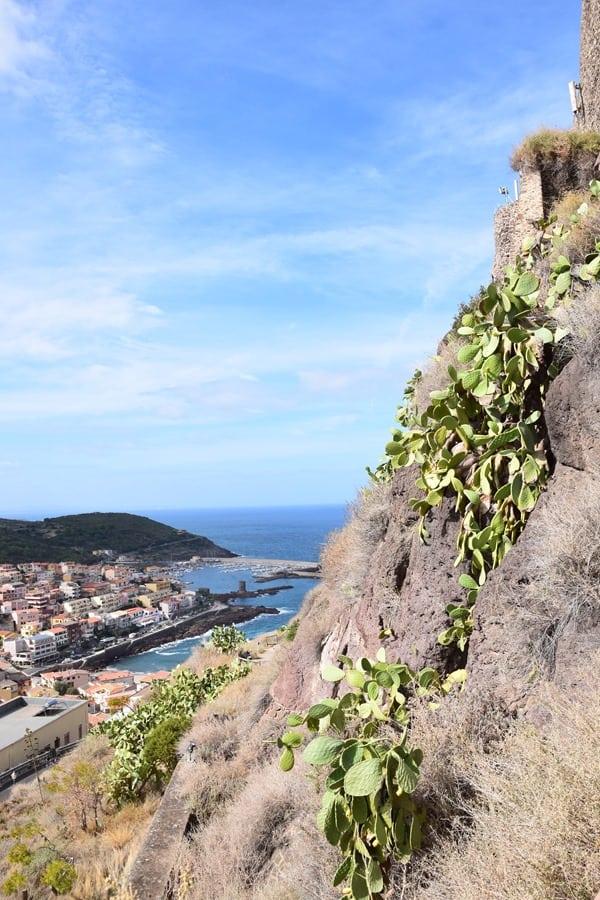 Castelsardo Sardinien Ausblick Felsen Costa Paradiso Italien