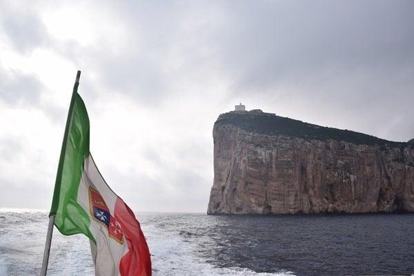 Bootsfahrt Capo Caccia Grotte di Nettuno Neptungrotte Sardinien Alghero Italien