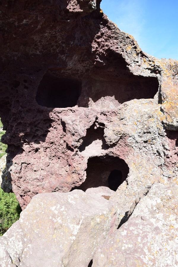 Steinzeit Gräber Roccia dell'Elefante Elefantenfelsen Sardinien Italien