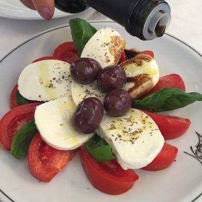 Antipasti Caprese Tomate Mozzarella Verona Italien