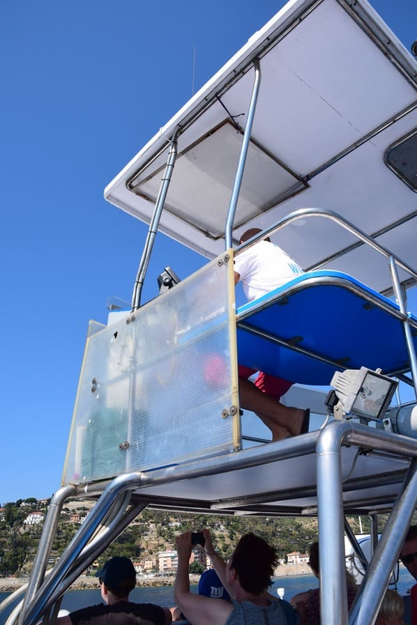 Whale Watching Whale Watch Imperia Schiff Corsara Ruderstand Ligurien Italien