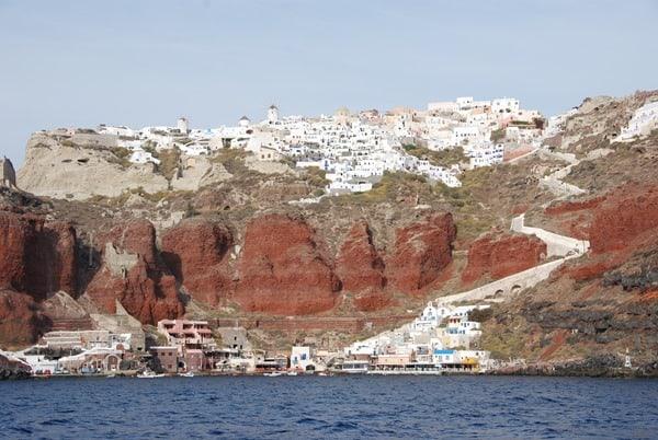 Thira Fira Bootsausflug Santorini Urlaub Kreuzfahrt Sehenswürdigkeiten Kykladen Griechenland