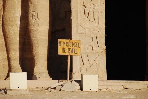 Nilkreuzfahrt No Photo inside Abu Simbel Hathor Tempel Ägypten Urlaub