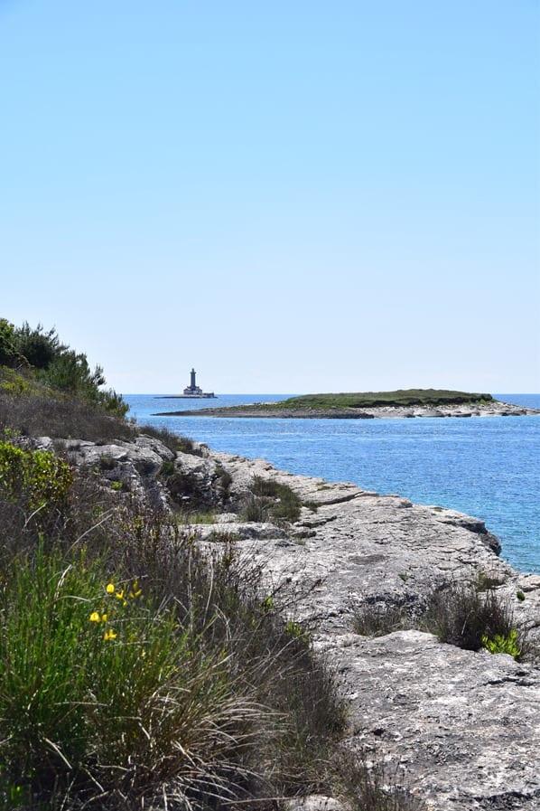 Leuchtturm Naturpark Kap Kamenjak Wandern Istrien Kroatien