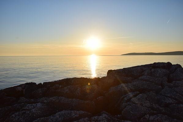 Naturpark Kap Kamenjak Sonnenuntergang Istrien Kroatien