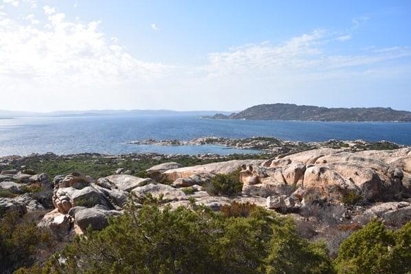 La Maddalena Sardinien Blick vom Nationalpark auf das Archipel Italien Mittelmeer