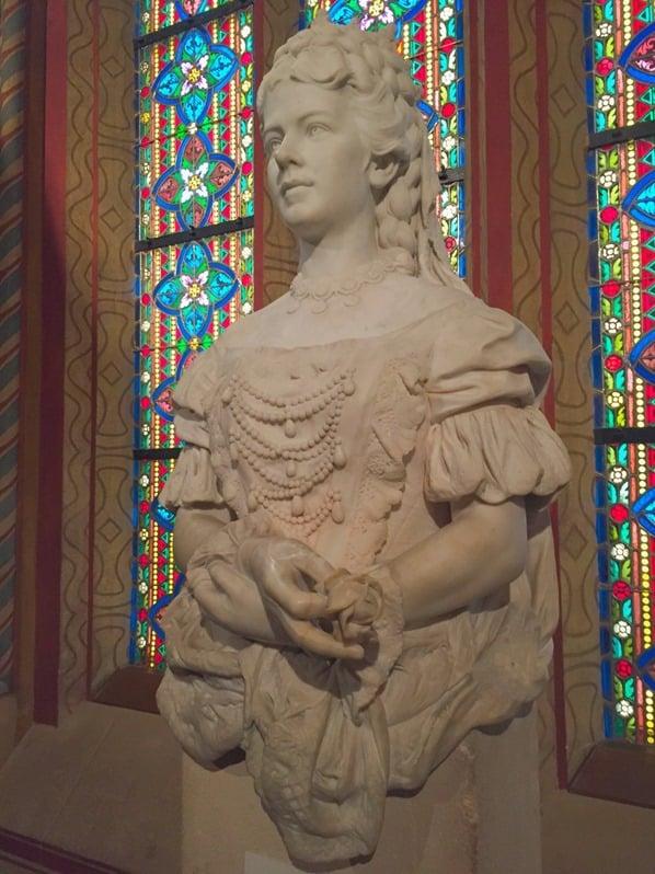 Kaiserin Elisabeth Sisi Sissi Büste Matthiaskirche Buda Burgenviertel Budapest Ungarn Donaukreuzfahrt Flusskreuzfahrt Donau