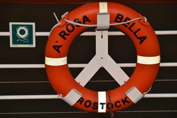a-rosa bella flusskreuzfahrt Donau Rettungsreifen