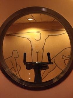 arosa Flusskreuzfahrt Donau a-rosa bella Fitnessstudio-Wellnessbereich Massage schöne Zeit