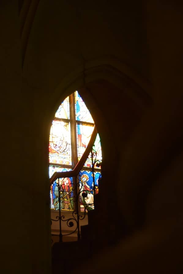 Kirchenfenster Linzer Mariendom Linz Österreich arosa Flusskreuzfahrt Donau