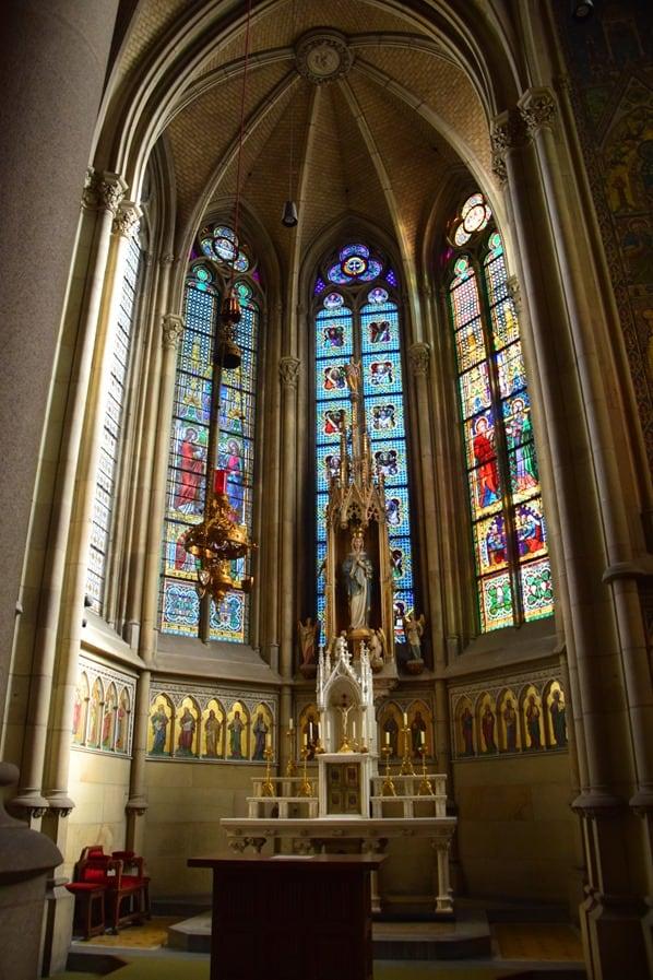 Altar Linzer Mariendom Linz Österreich arosa Flusskreuzfahrt Donau