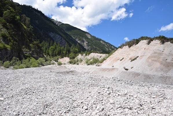 Gaisalm Achensee wandern großes Geröllfeld Tirol Österreich