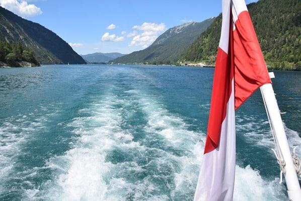 Gaisalm Achensee wandern Kielwasser Ausflugsdampfer Tirol Österreich
