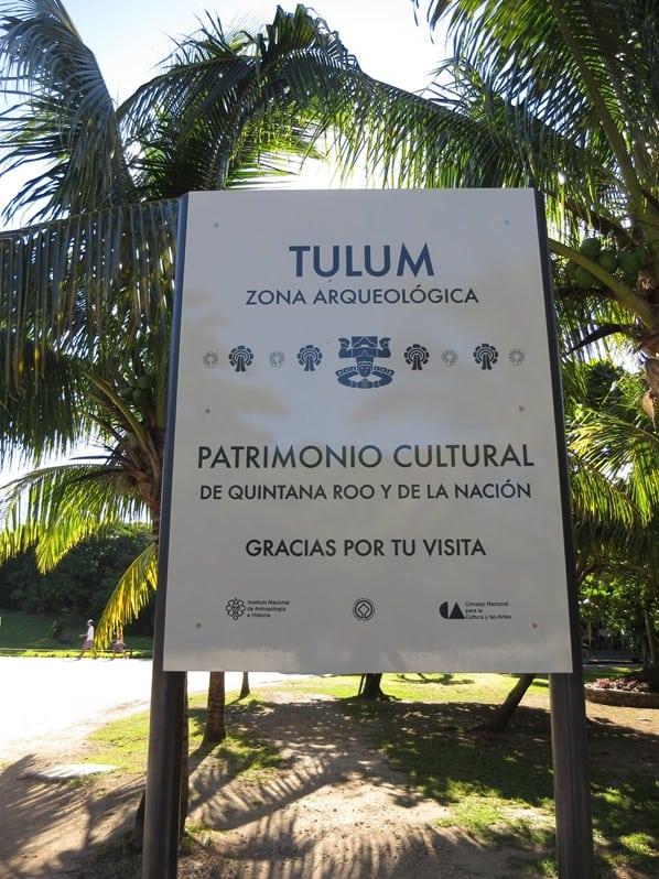 Tulum Mexiko Maya Tempel Karibik Eingang Yucatan
