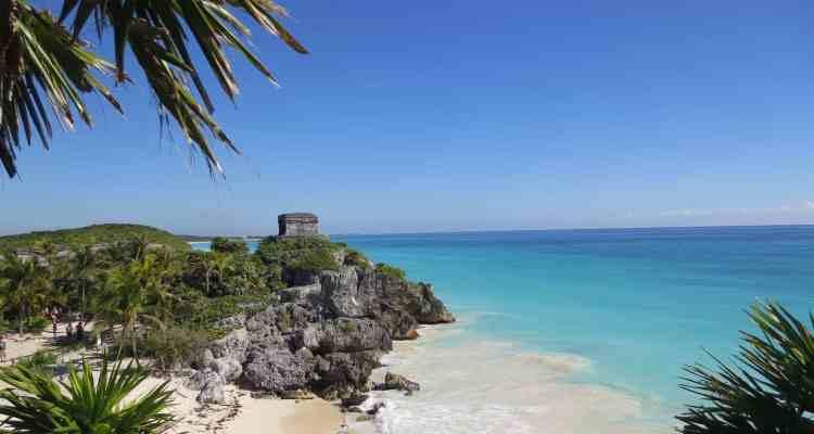 Tulum Mexiko Maya Tempel des Windes Yucatan Karibik Meer