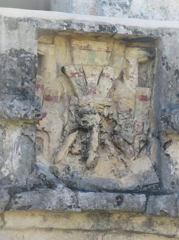 Tulum Mexiko Maya Ruine farbiges Relief Freskentempel Yucatan Karibik