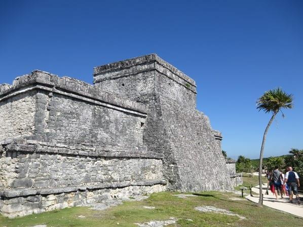 Tulum Mexiko Maya Ruine Schloss El Castillo Yucatan Karibik