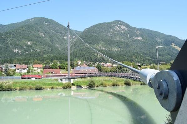 Drauradweg Radbrücke Drau Kärnten Österreich