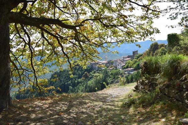 Weg nach Triora Ligurien Alpen Italien