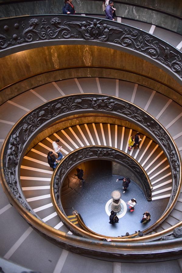 Vatikan Vatikanische Museen Rom Doppelläufige Wendeltreppe Ausgang Italien