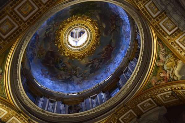 Vatikan Rom Kuppel Deckengemälde Fresko Petersdom Italien