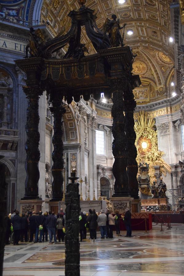 Vatikan Rom Petersdom Altar Italien
