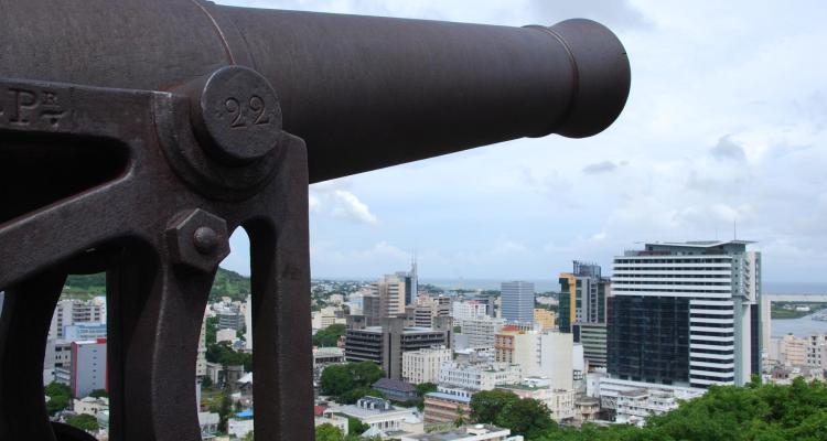 0 Kanone Fort Adelaide Citadel Port Louis Mauritius