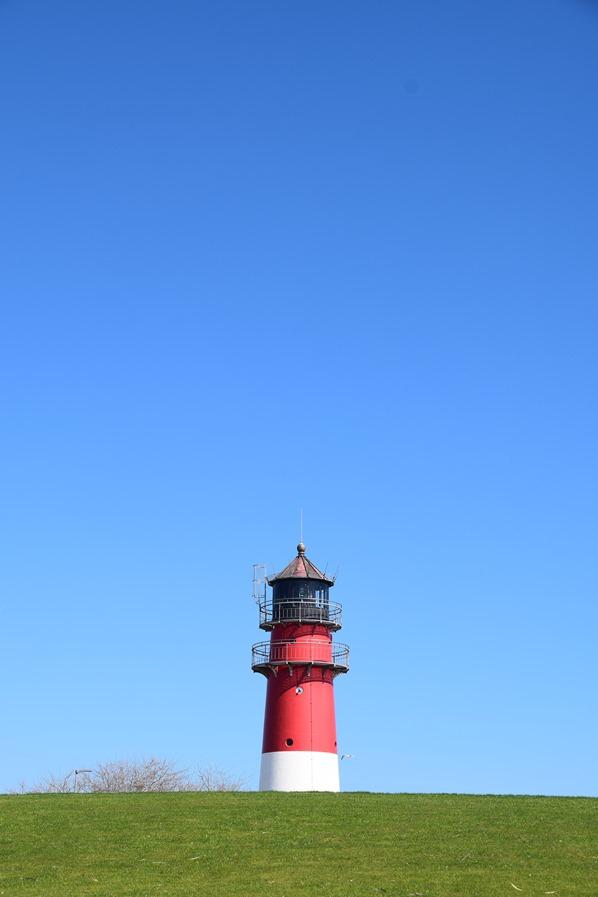 Nordsee Urlaub Leuchtturm Büsum Wahrzeichen Nordfriesland Schleswig-Holstein Deutschland