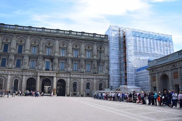 Stockholm Sehenswürdigkeiten Baustelle Stockholmer Schloss Gamla Stan Königshaus Schweden Ostsee Kreuzfahrt
