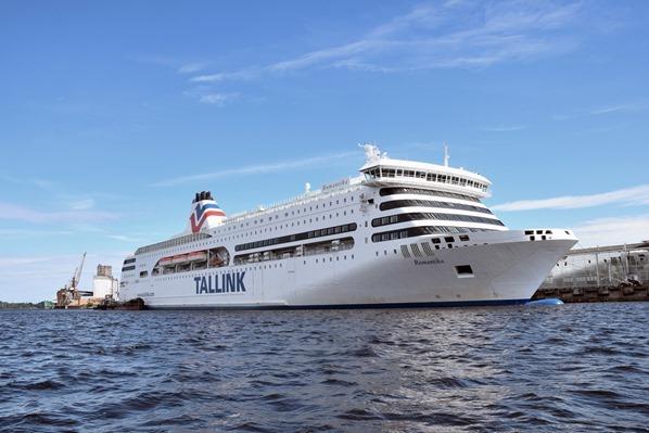 Luxus-Fähre Tallink Romantika Hafen Riga Lettland Ostsee Kreuzfahrt