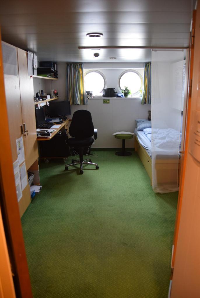 arosa flusskreuzfahrt flusskreuzfahrtschiff a-rosa aqua schiffsrundgang schiffsführung offizierskabine