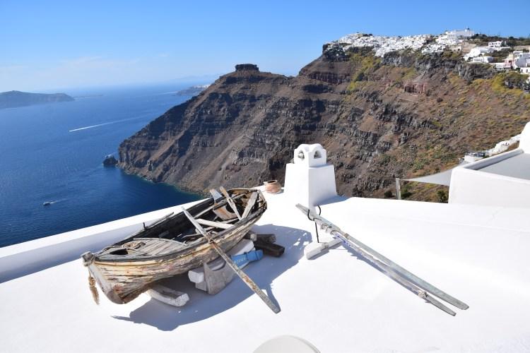 Familienkreuzfahrt Costa Panorama Ausblick Oia Santorini Kykladen Griechenland Kreuzfahrt