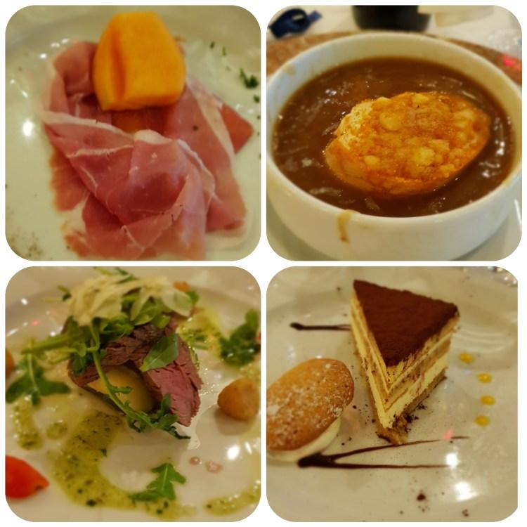 Familienkreuzfahrt Costa Luminosa Menü Abendessen Restaurant Taurus Kreuzfahrt