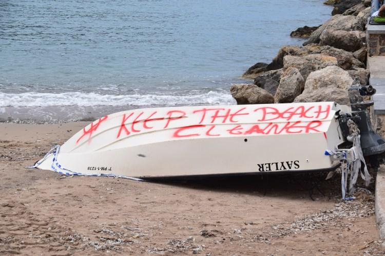 20 strand sauber halten puerto de soller mallorca balearen spanien