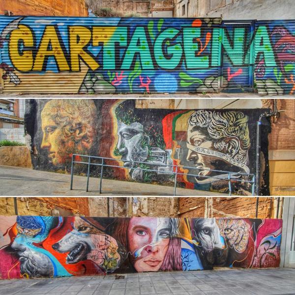 streetart cartagena spanien aida familien kreuzfahrt