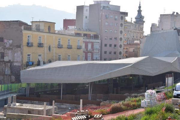 blick auf ausgrabungen cartagena murcia spanien aida familien kreuzfahrt
