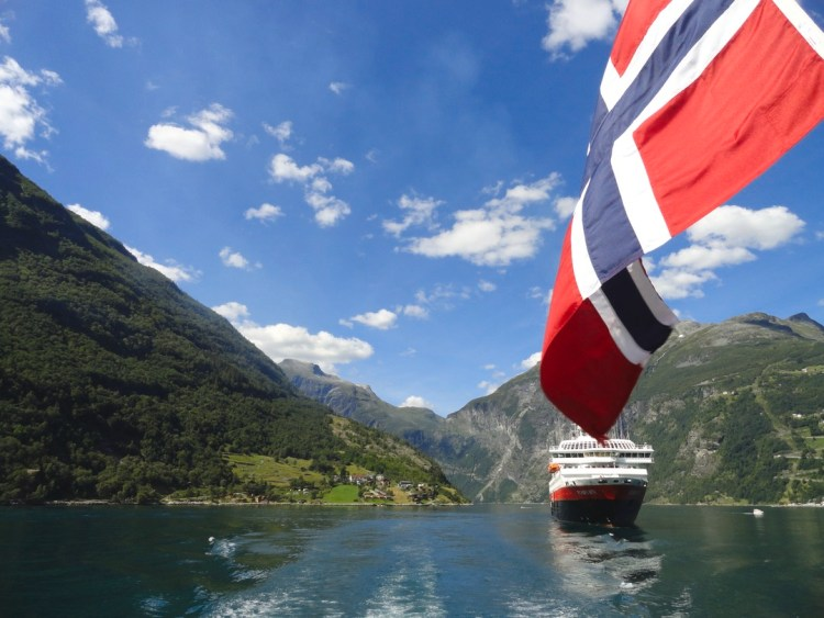 Hurtigruten MS Richard With Geiranger Fjord Norwegen