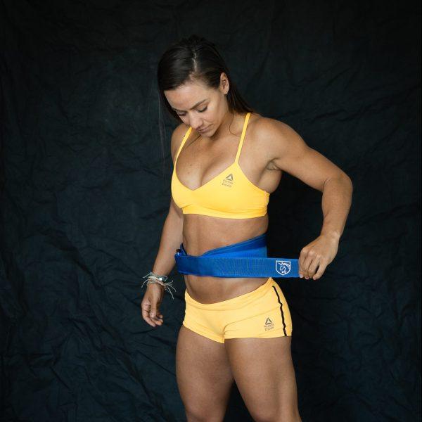 Feroce blue weightlifting belt (Camille leblanc-bazinet