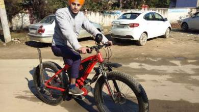 Photo of Ferozepur youth designed eye-catching cycle to give message to reduce pollution in air
